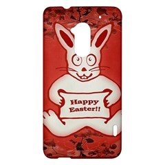 Cute Bunny Happy Easter Drawing Illustration Design HTC One Max (T6) Hardshell Case