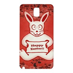 Cute Bunny Happy Easter Drawing Illustration Design Samsung Galaxy Note 3 N9005 Hardshell Back Case