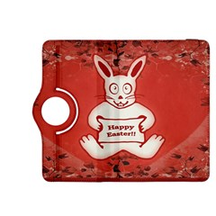 Cute Bunny Happy Easter Drawing Illustration Design Kindle Fire HDX 8.9  Flip 360 Case