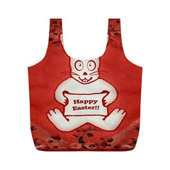 Cute Bunny Happy Easter Drawing Illustration Design Reusable Bag (m)
