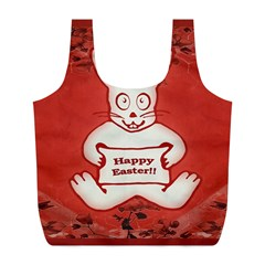 Cute Bunny Happy Easter Drawing Illustration Design Reusable Bag (l)