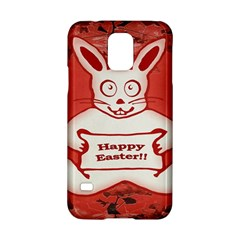 Cute Bunny Happy Easter Drawing Illustration Design Samsung Galaxy S5 Hardshell Case