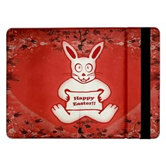 Cute Bunny Happy Easter Drawing Illustration Design Samsung Galaxy Tab Pro 12 2  Flip Case