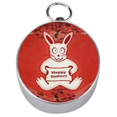 Cute Bunny Happy Easter Drawing Illustration Design Silver Compass