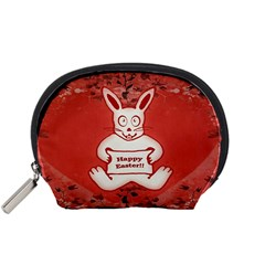 Cute Bunny Happy Easter Drawing Illustration Design Accessory Pouch (Small)