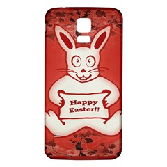 Cute Bunny Happy Easter Drawing Illustration Design Samsung Galaxy S5 Back Case (white)