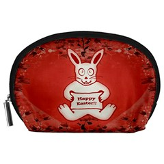 Cute Bunny Happy Easter Drawing Illustration Design Accessory Pouch (large)