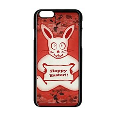 Cute Bunny Happy Easter Drawing Illustration Design Apple iPhone 6 Black Enamel Case