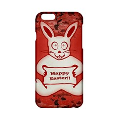 Cute Bunny Happy Easter Drawing Illustration Design Apple iPhone 6 Hardshell Case