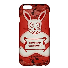 Cute Bunny Happy Easter Drawing Illustration Design Apple Iphone 6 Plus Hardshell Case