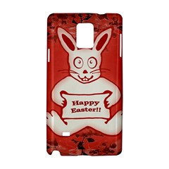 Cute Bunny Happy Easter Drawing Illustration Design Samsung Galaxy Note 4 Hardshell Case