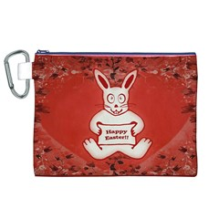 Cute Bunny Happy Easter Drawing Illustration Design Canvas Cosmetic Bag (XL)