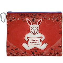 Cute Bunny Happy Easter Drawing Illustration Design Canvas Cosmetic Bag (xxxl)