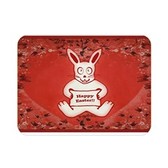 Cute Bunny Happy Easter Drawing Illustration Design Double Sided Flano Blanket (Mini)
