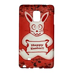 Cute Bunny Happy Easter Drawing Illustration Design Samsung Galaxy Note Edge Hardshell Case
