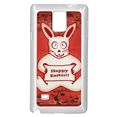 Cute Bunny Happy Easter Drawing Illustration Design Samsung Galaxy Note 4 Case (white)