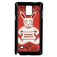 Cute Bunny Happy Easter Drawing Illustration Design Samsung Galaxy Note 4 Case (black)