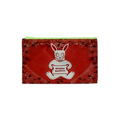 Cute Bunny Happy Easter Drawing Illustration Design Cosmetic Bag (xs)
