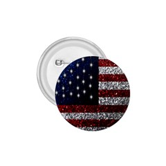 American Flag In Glitter Photograph 1 75  Button