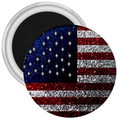 American Flag In Glitter Photograph 3  Button Magnet