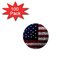 American Flag In Glitter Photograph 1  Mini Button Magnet (100 Pack)