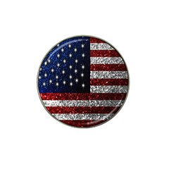 American Flag In Glitter Photograph Golf Ball Marker 10 Pack (for Hat Clip)