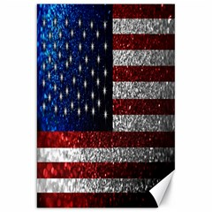 American Flag In Glitter Photograph Canvas 20  X 30  (unframed)