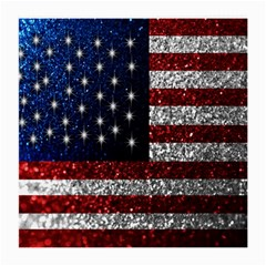 American Flag In Glitter Photograph Glasses Cloth (medium, Two Sided)