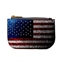 American Flag In Glitter Photograph Coin Change Purse