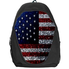 American Flag In Glitter Photograph Backpack Bag