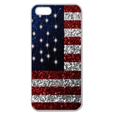 American Flag In Glitter Photograph Apple Seamless Iphone 5 Case (clear)