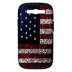 American Flag In Glitter Photograph Samsung Galaxy S Iii Hardshell Case (pc+silicone)