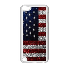 American Flag In Glitter Photograph Apple Ipod Touch 5 Case (white)