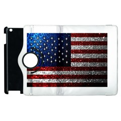 American Flag In Glitter Photograph Apple Ipad 2 Flip 360 Case
