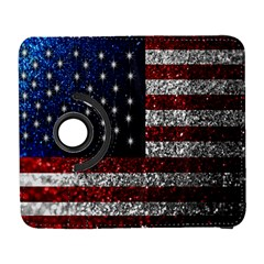 American Flag In Glitter Photograph Samsung Galaxy S  Iii Flip 360 Case