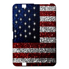 American Flag In Glitter Photograph Kindle Fire Hd 8 9  Hardshell Case