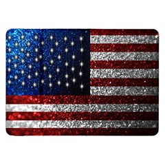 American Flag in Glitter Photograph Samsung Galaxy Tab 8.9  P7300 Flip Case