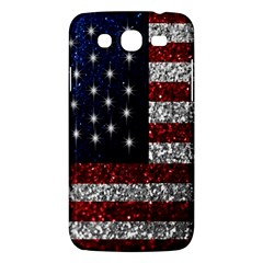 American Flag In Glitter Photograph Samsung Galaxy Mega 5 8 I9152 Hardshell Case