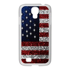 American Flag In Glitter Photograph Samsung Galaxy S4 I9500/ I9505 Case (white)