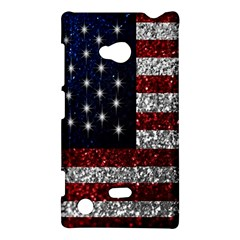 American Flag In Glitter Photograph Nokia Lumia 720 Hardshell Case