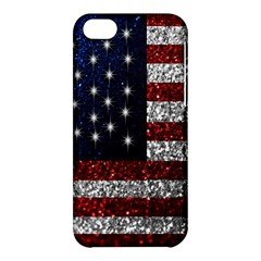 American Flag In Glitter Photograph Apple Iphone 5c Hardshell Case