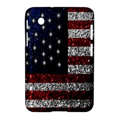 American Flag In Glitter Photograph Samsung Galaxy Tab 2 (7 ) P3100 Hardshell Case