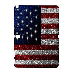 American Flag in Glitter Photograph Samsung Galaxy Note 10.1 (P600) Hardshell Case