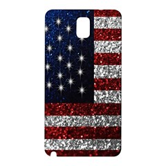 American Flag in Glitter Photograph Samsung Galaxy Note 3 N9005 Hardshell Back Case