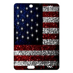 American Flag in Glitter Photograph Kindle Fire HD (2013) Hardshell Case