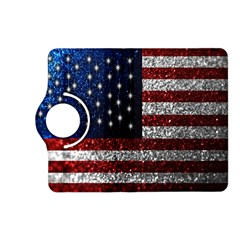 American Flag in Glitter Photograph Kindle Fire HD (2013) Flip 360 Case