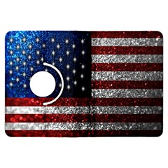 American Flag In Glitter Photograph Kindle Fire Hdx Flip 360 Case