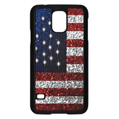 American Flag in Glitter Photograph Samsung Galaxy S5 Case (Black)