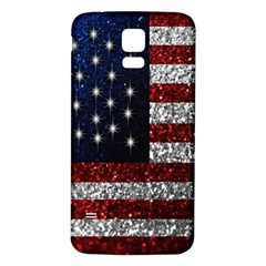 American Flag In Glitter Photograph Samsung Galaxy S5 Back Case (white)