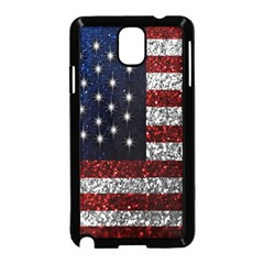 American Flag in Glitter Photograph Samsung Galaxy Note 3 Neo Hardshell Case (Black)